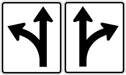 Left/Straight Optional & Right/Straight Optional