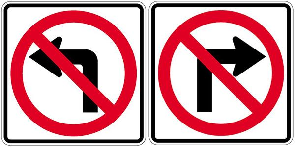 No Left Turn or No Right Turn